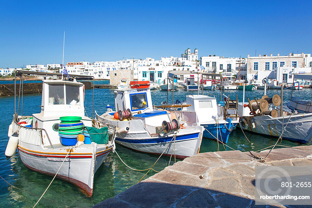 Fishing Boats, Old Port of Naoussa, Paros Island, Cyclades Group, Greece