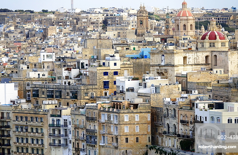 The rooftops of Valletta, Malta, Europe