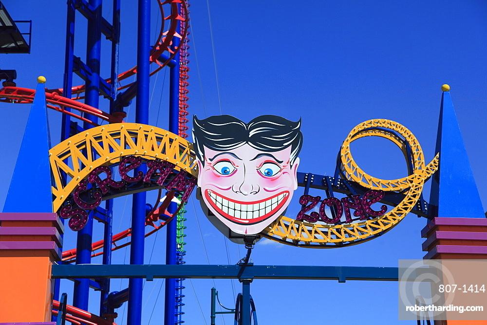 Luna Park Amusement Park Coney Stock Photo