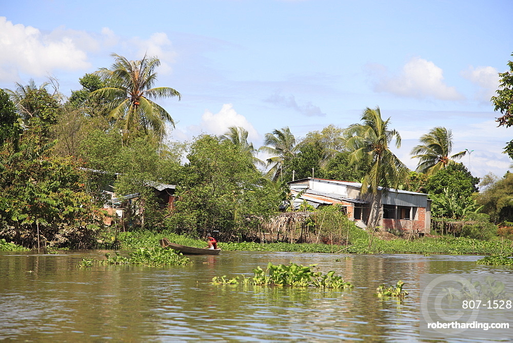 Canal, Can Tho, Mekong Delta, Can Tho Province, Vietnam, Indochina, Southeast Asia, Asia