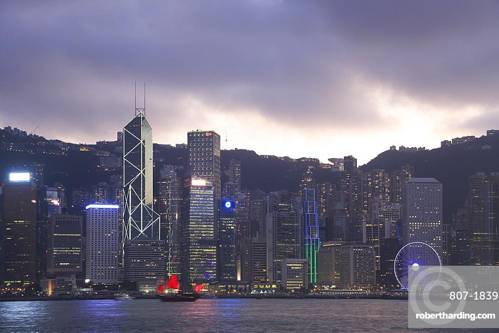 Skyline, Victoria Harbour, Hong Kong Island, Hong Kong, China, Asia