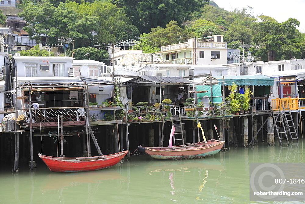 Stilt Houses, Canal, Tai O Fishing Village, Lantau Island, Hong Kong, China, Asia