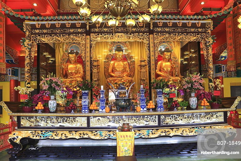 The Main Shrine Hall of Buddha, Po Lin Monastery, Hong Kong, China, Asia