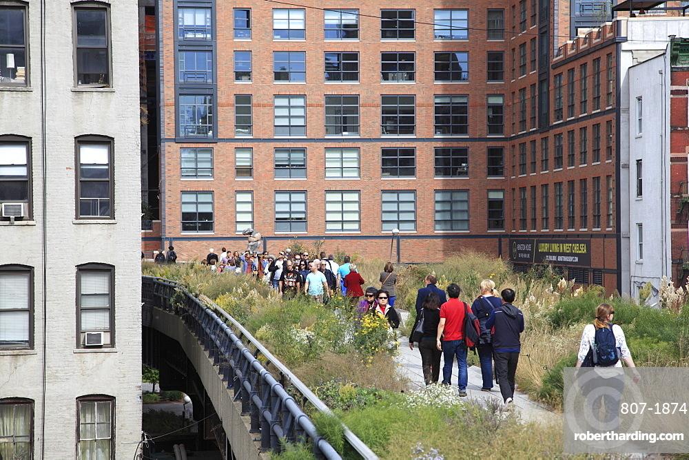 High Line Park, Manhattan, New York City, New York, United States of America, North America