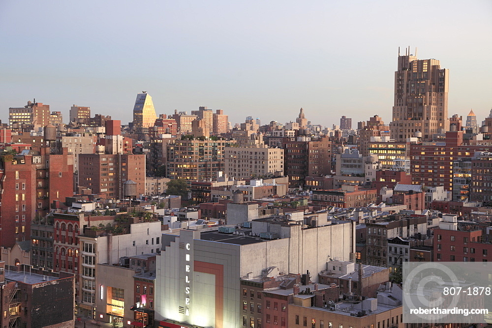 Overview of Chelsea, Manhattan, New York City, New York, United States of America, North America
