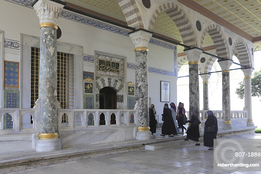 Audience Chamber (Audience Hall), Topkapi Palace, UNESCO World Heritage Site, Istanbul, Turkey, Europe