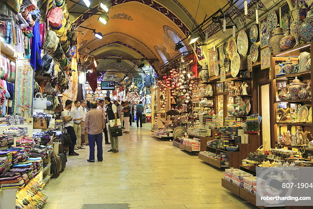 Grand Bazaar, Kapali Carsi, Market, Old City, Istanbul, Turkey, Europe