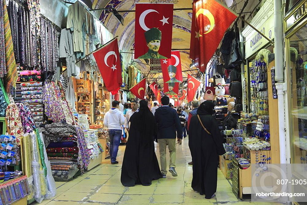 Grand Bazaar (Kapali Carsi), Market, Old City, Istanbul, Turkey, Europe