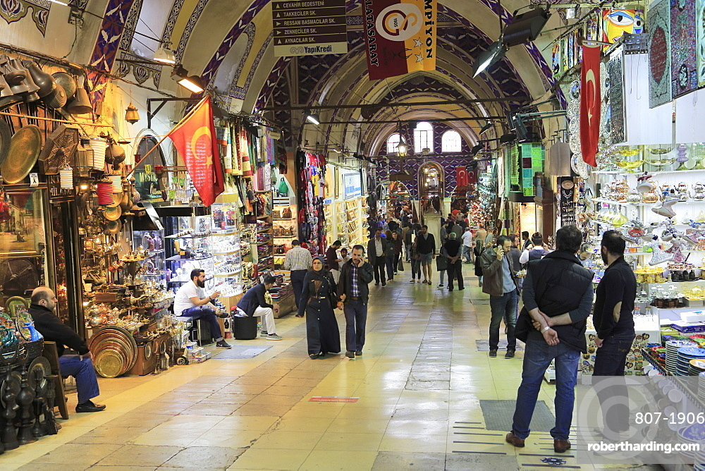 Grand Bazaar (Kapali Carsi), Market, Old City, Istanbul, Turkey, Europe