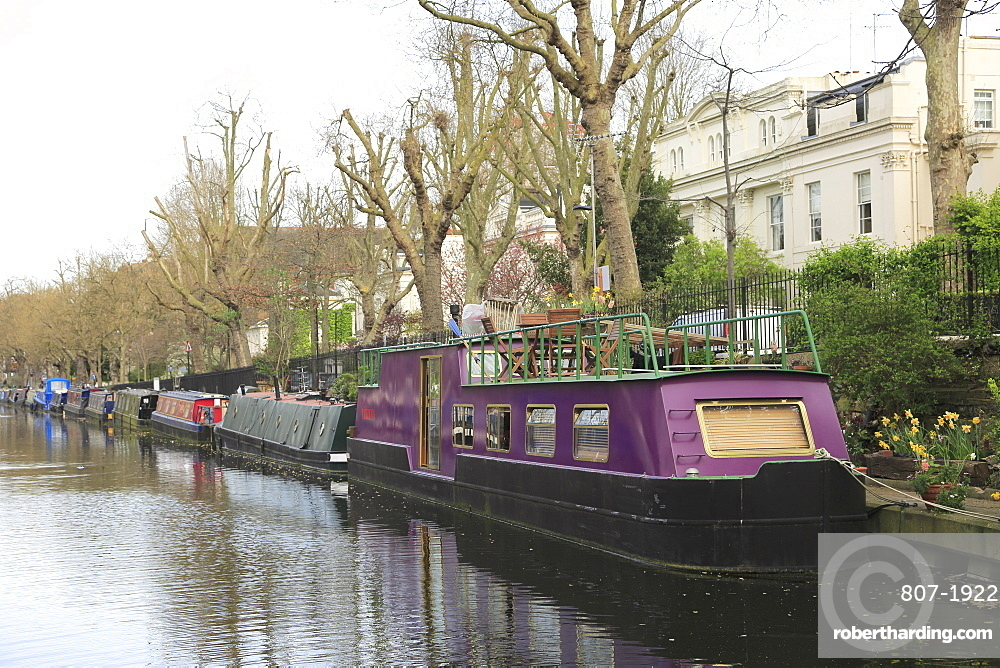 House Boats, Little Venice, Regent???s Canal, London, England, United Kingdom