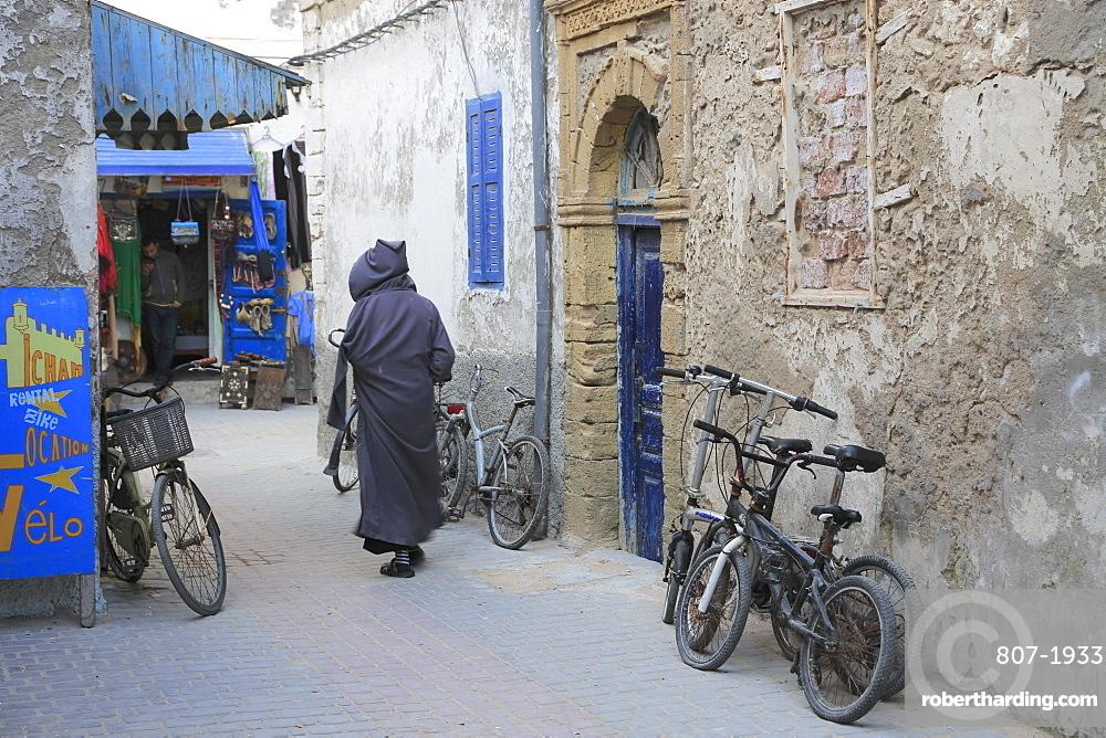 Street scene, Medina, UNESCO World Heritage Site, Essaouira, Morocco, North Africa, Africa
