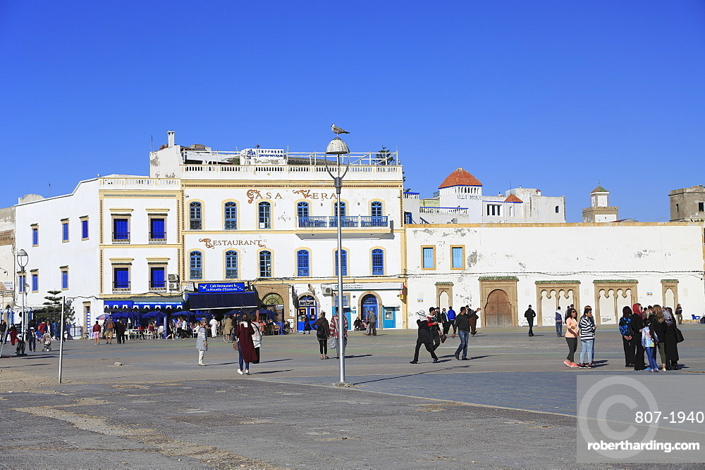Moulay Hassan Square, Essaouira, UNESCO World Heritage Site, Morocco, North Africa, Africa