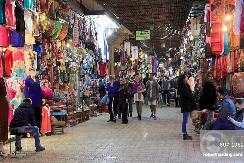 Souk, Market, Medina, UNESCO World Heritage Site, Marrakesh, Marrakech, Morocco, North Africa