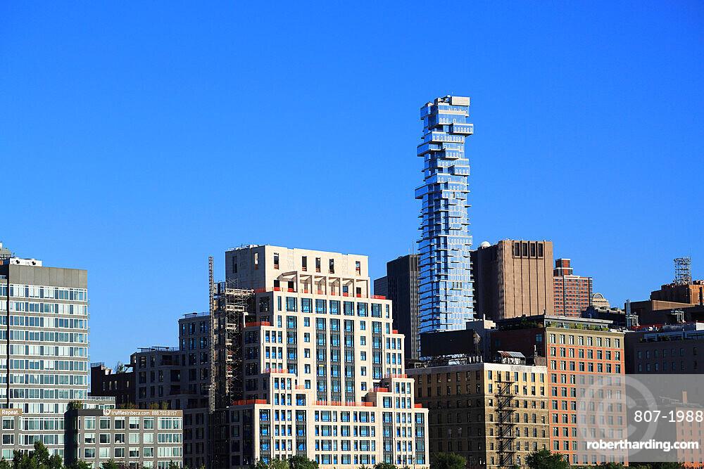 Tribeca, Jenga Tower, designed by architect Herzog and de Meuron, Lower Manhattan, New York City, United States of America, North America
