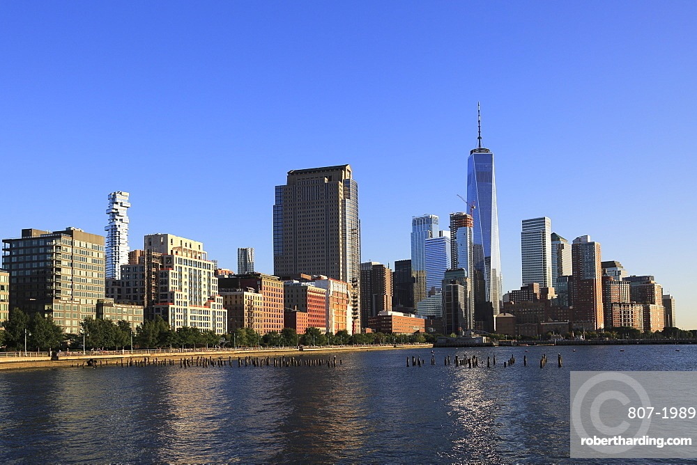 One World Trade Center, Financial District, Lower Manhattan, Hudson River, New York City, USA
