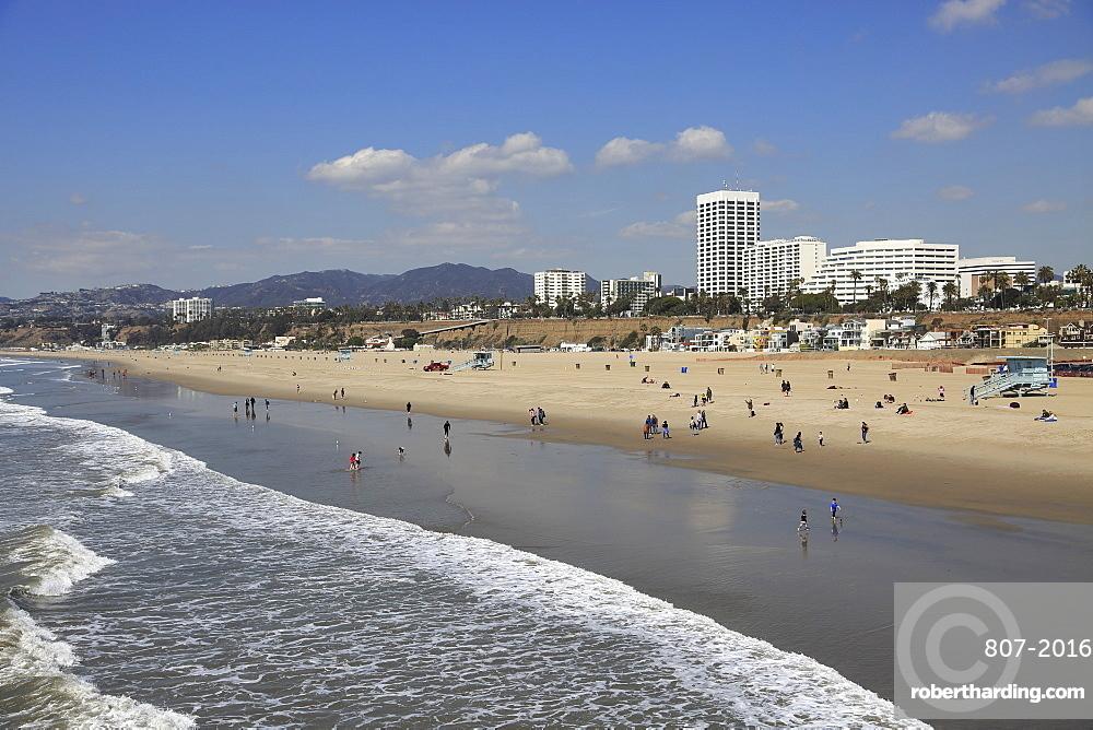 Beach, Santa Monica, Pacific Ocean, Los Angeles, California, United States of America, North America