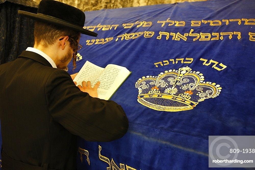 Orthodox Jew At David S Tomb Stock Photo
