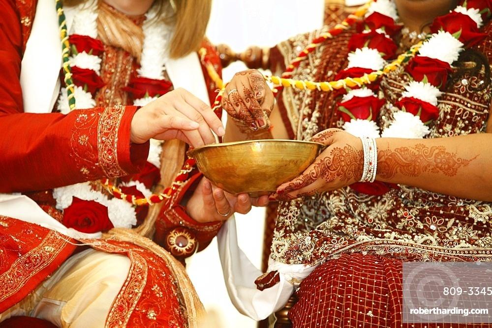 Hindu wedding at Bhaktivedanta Manor, Watford, Hertfordshire, England, United Kingdom, Europe