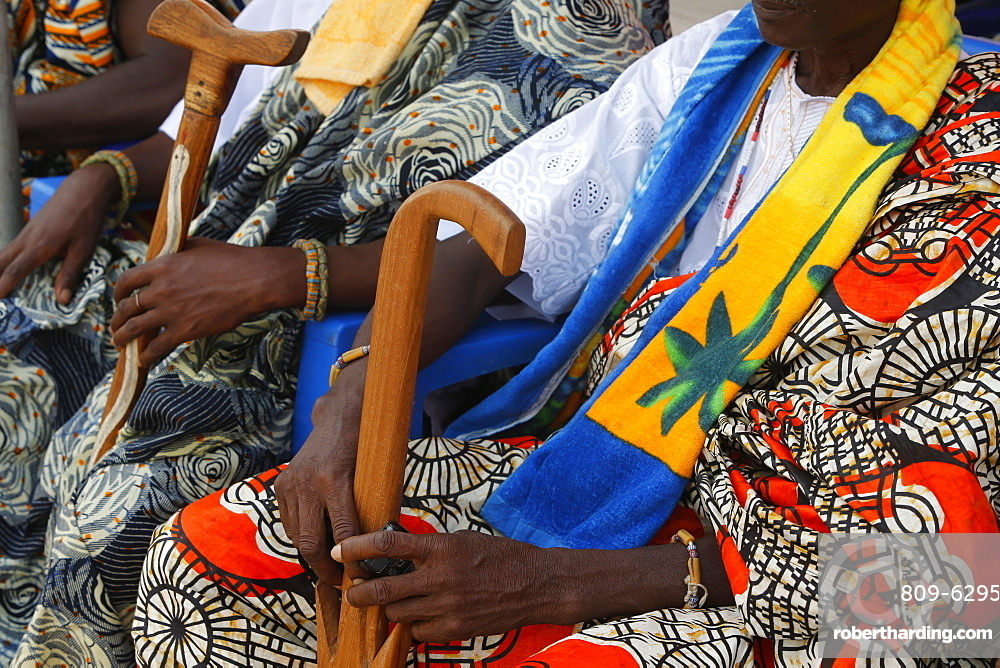 Chiefs attending the Ouidah Voodoo | Stock Photo