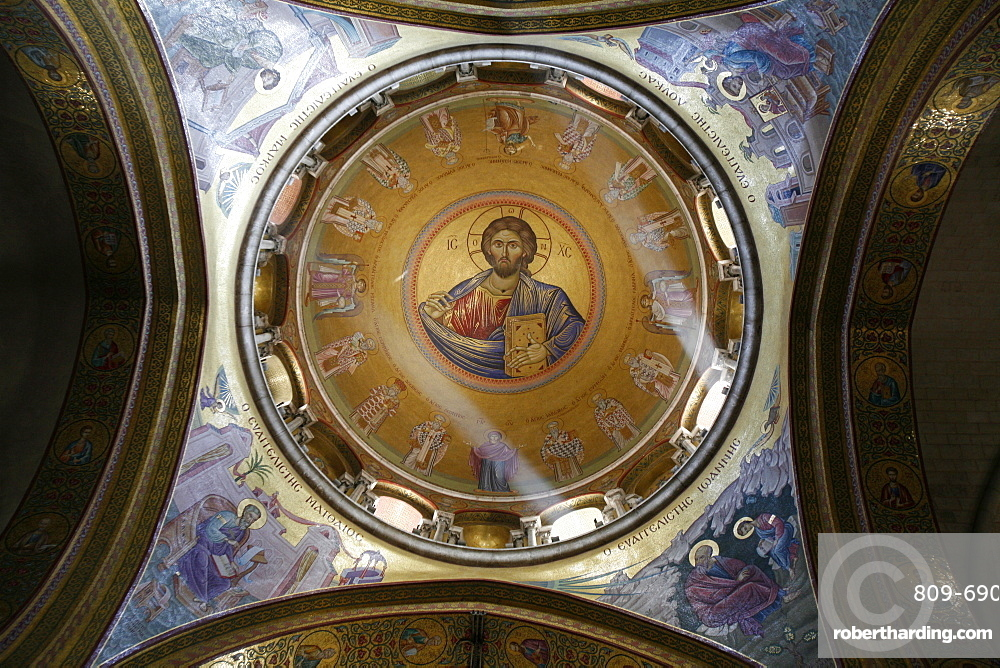 Dome of the Katholikon Greek Orthodox church in the Church of the Holy Sepulchre, Jerusalem, Israel, Middle East