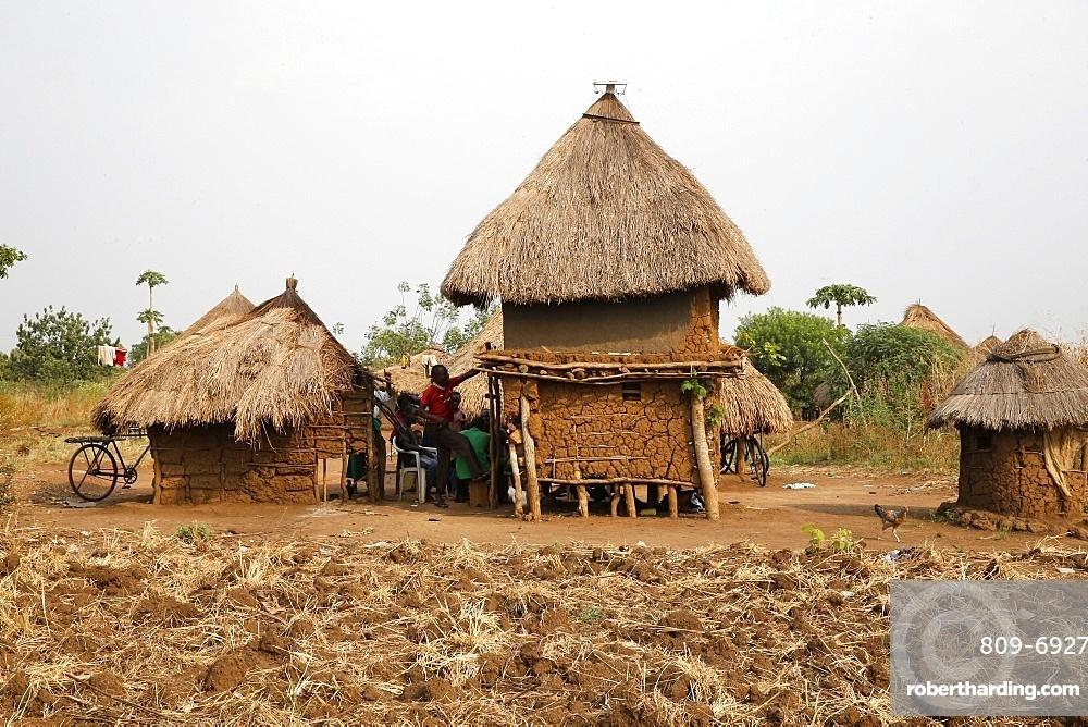 Ugandan village, Uganda, Africa