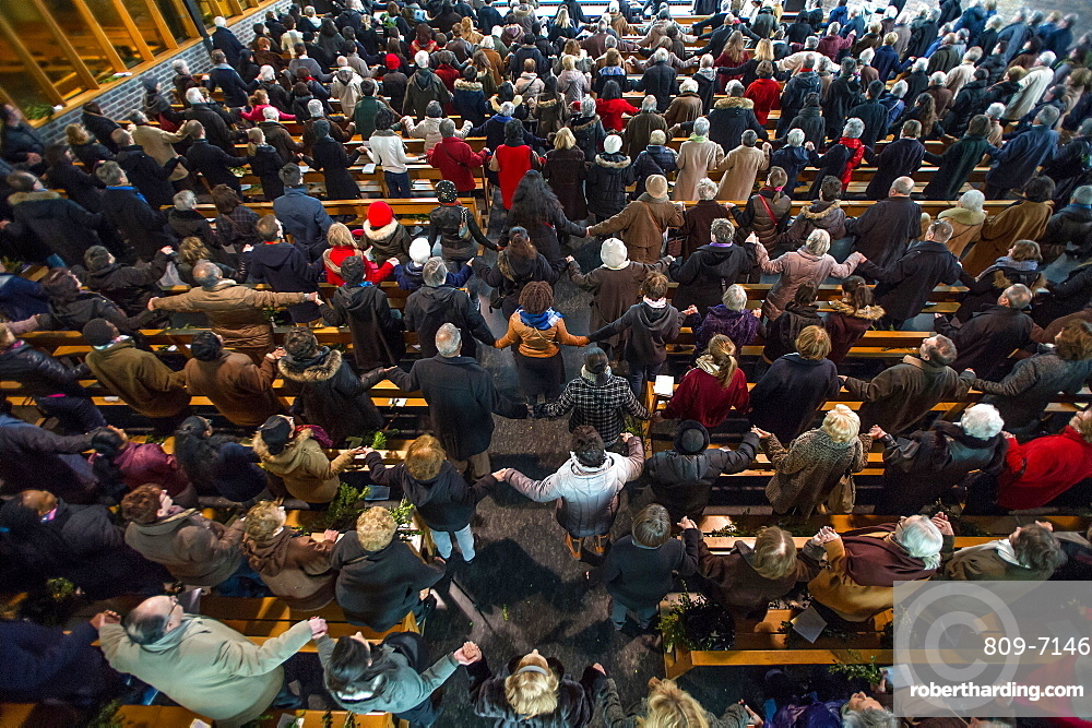 Palm Sunday celebration in a Paris Catholic church, Paris, France, Europe