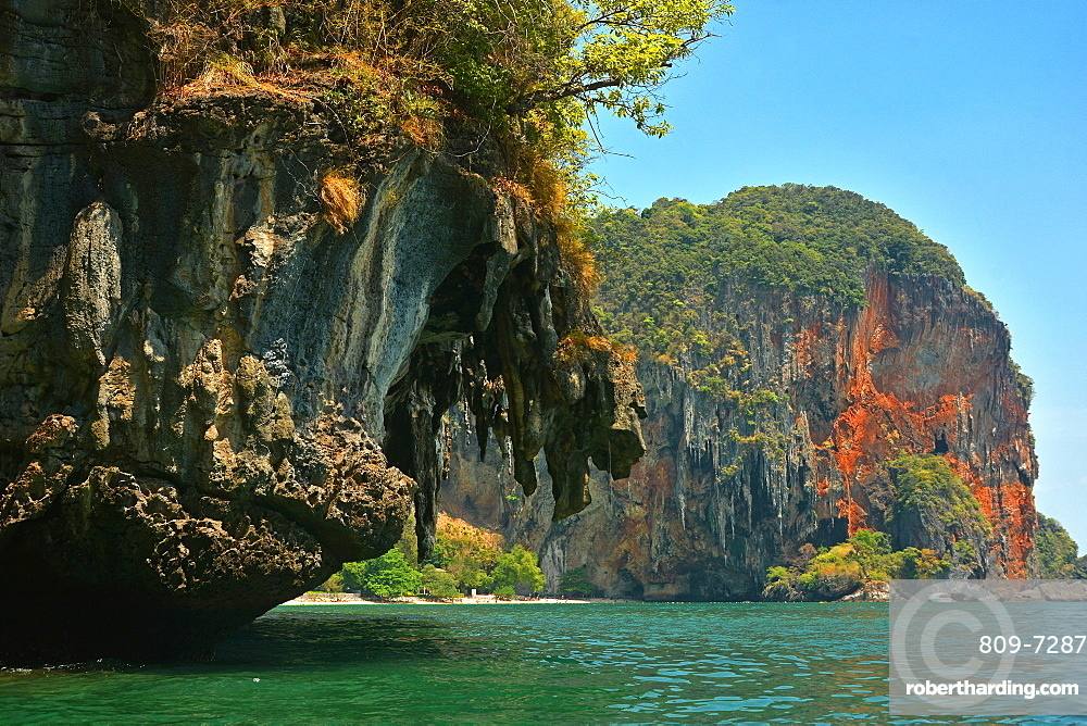 Phranang Bay cliffs, Thailand, Southeast Asia, Asia