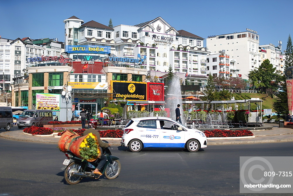 Houses of Da Lat city (Dalat), Dalat, Vietnam, Indochina, Southeast Asia, Asia