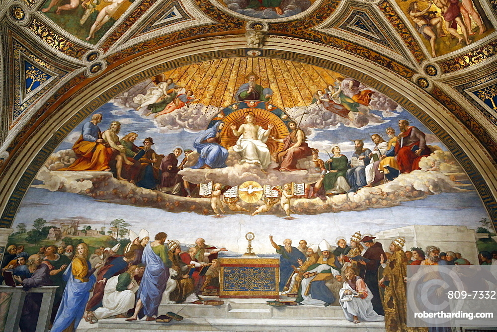 Raphael's Rooms, Disputation of the Holy Sacrament, Vatican Museum, Rome, Lazio, Italy, Europe