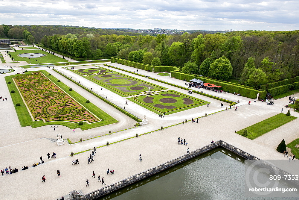 View from Vaux-le-Vicomte Chateau, Seine-et-Marne, France, Europe