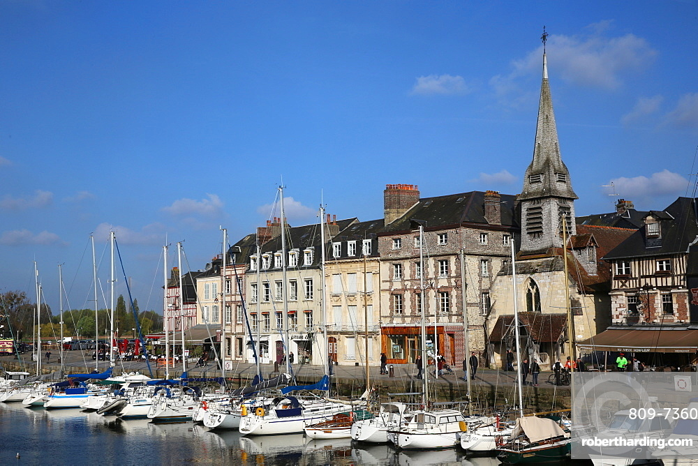 Harbour, Honfleur, Normandy, France, Europe