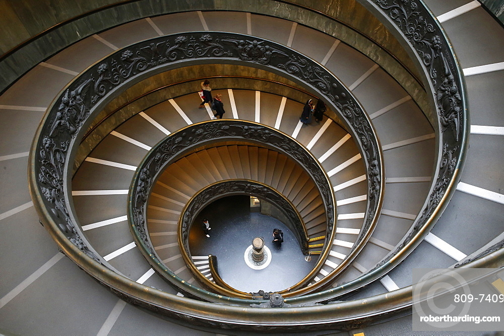 Spiral staircase, Vatican Museums, Vatican, Rome, Lazio, Italy, Europe