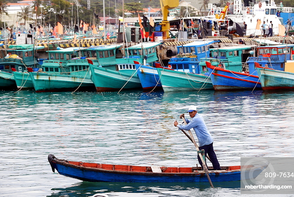 Fishing boats, An Thoi harbour, Vietnam, Indochina, Southeast Asia, Asia