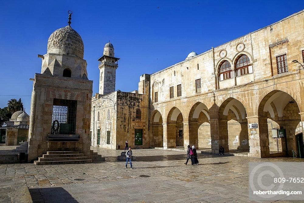 Shrines on the Haram esh-Sharif (Al Aqsa compound) (Temple Mount), UNESCO World Heritage Site, Jerusalem, Israel, Middle East