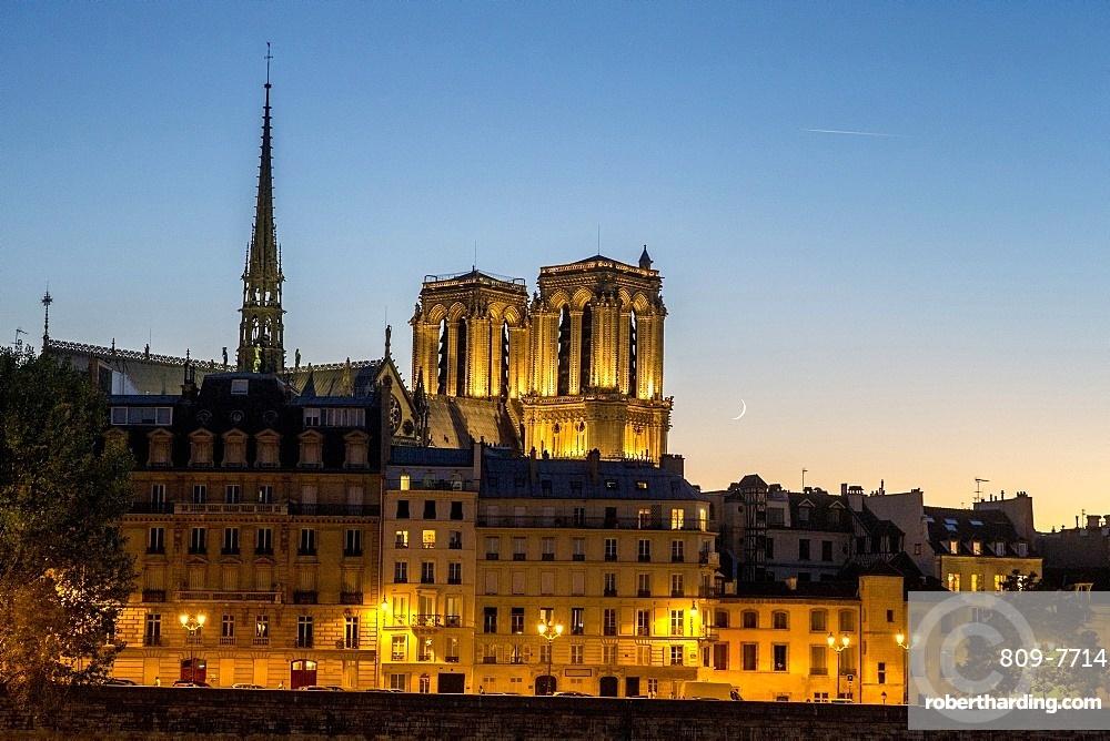 Paris by night, Paris, France, Europe