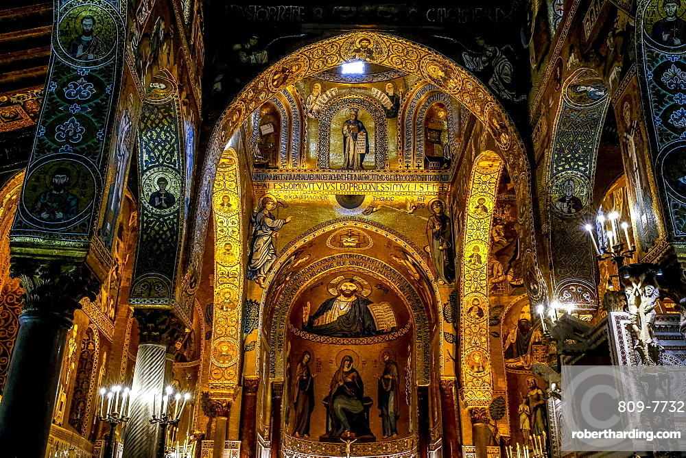 Palatine Chapel, Palermo, Sicily, Italy, europe