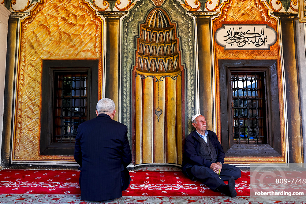 Macedonian Muslims, Pasha mosque, the painted mosque of Tetovo, Republic of Macedonia, Europe