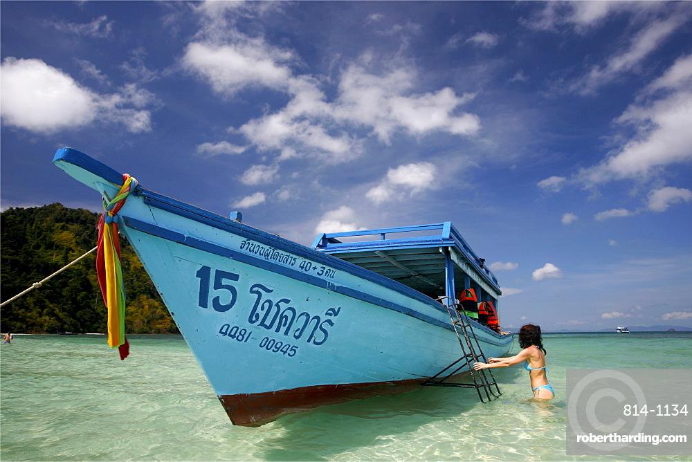 Koh Thab island, in Krabi province, Thailand, Southeast Asia, Asia