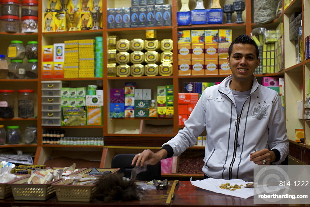 A small shop in the suk in the medina of Tripoli, Libya, North Africa, Africa