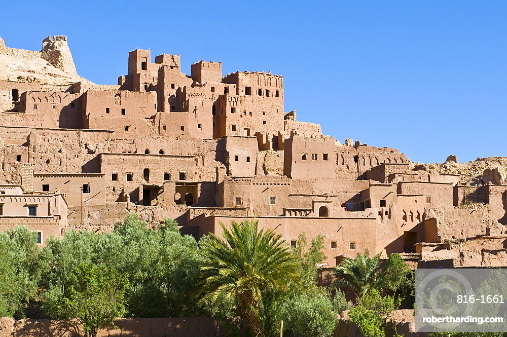 Old ksar of Ait Benhaddou, UNESCO World Heritage Site, Morocco, North Africa, Africa