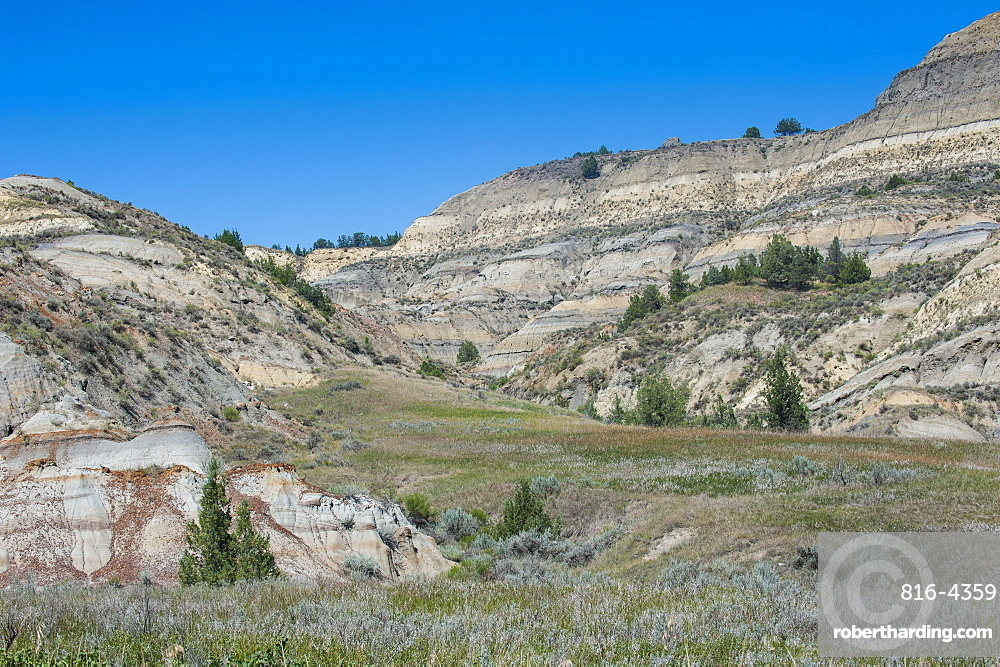 The northern part of the Roosevelt National Park, North Dakota, United States of America, North America