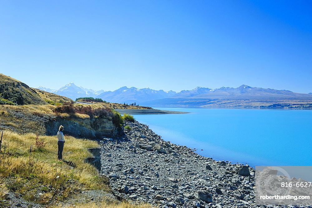 Lake Pukaki, Mount Cook National Park, UNESCO World Heritage Site, South Island, New Zealand, Pacific