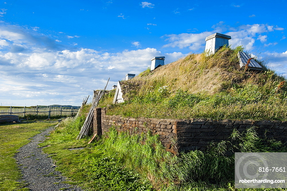 Norse settlement, L'Anse aux Meadows National Historic Site, UNESCO World Heritage Site, only Viking site in America, Newfoundland, Canada, North America