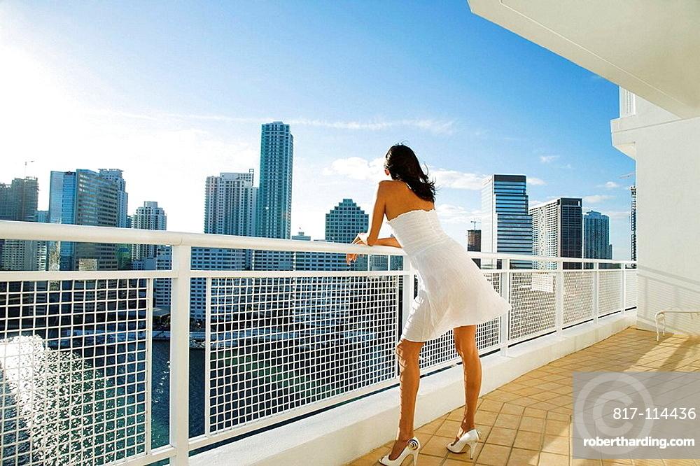 Latin woman lifestyle, Miami, Florida, USA