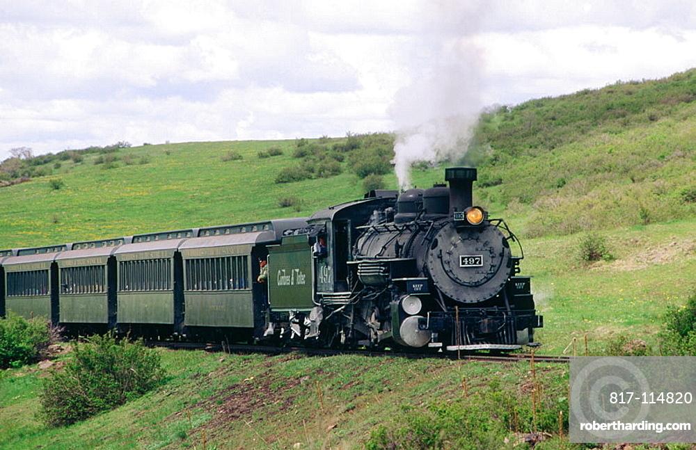 Cumbres and Toltec Scenic Railroad, steam train, New Mexico, USA