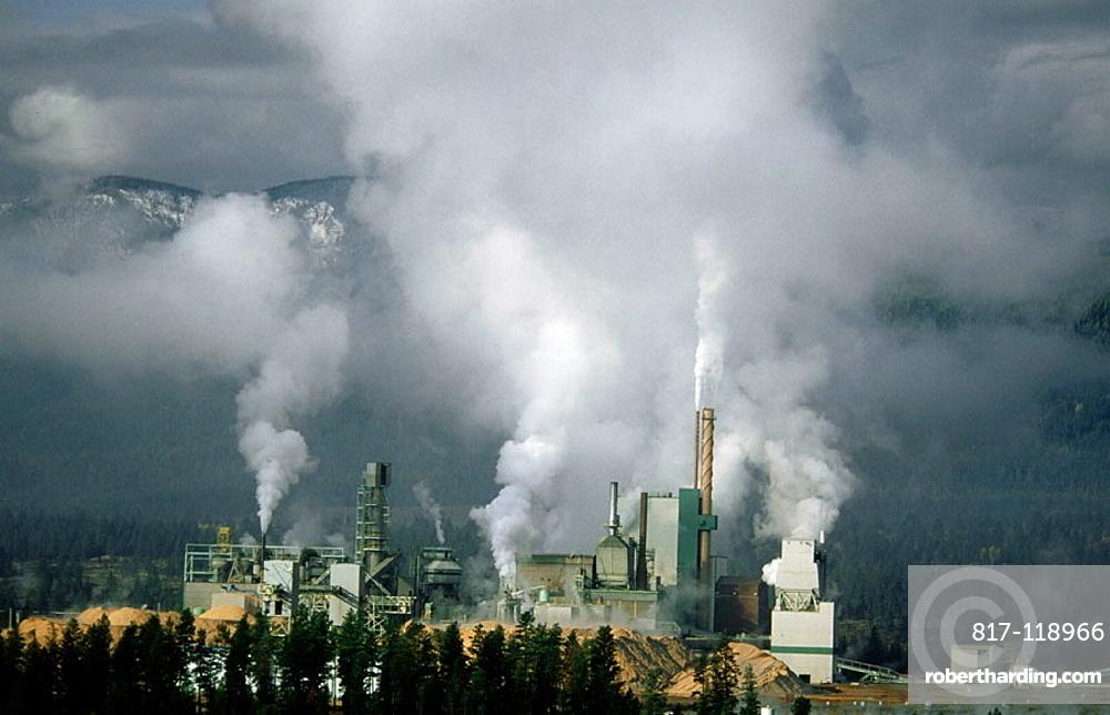 Air pollution from Skookumchuck Pulp Mill, British Columbia, Canada