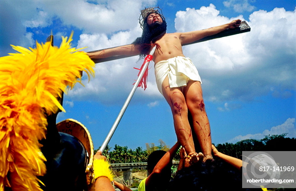 Christ on the cross, Moriones Festival, Easter Sunday, Marinduque Island, Philippines