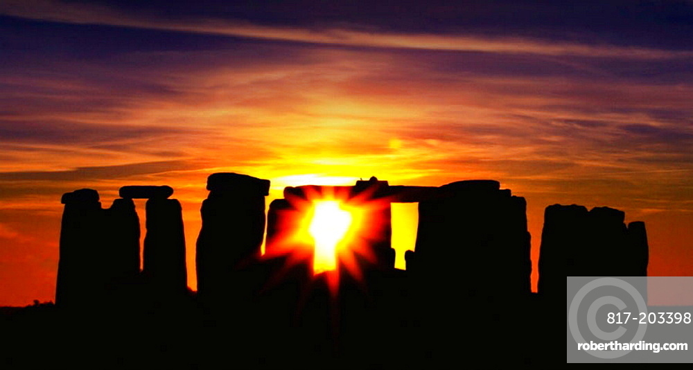 Stonehenge is a prehistoric monument located in the English county of Wiltshire, about 8 miles (13 km) north of Salisbury