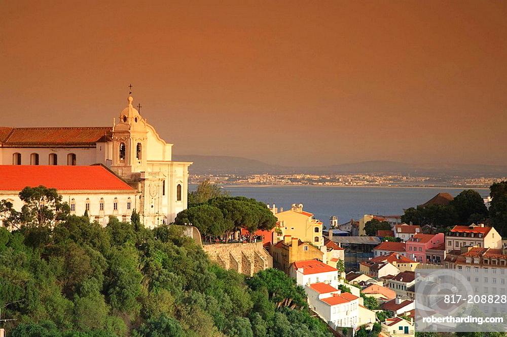 Santo Estevao Church and Alfama District, Lisbon, Portugal