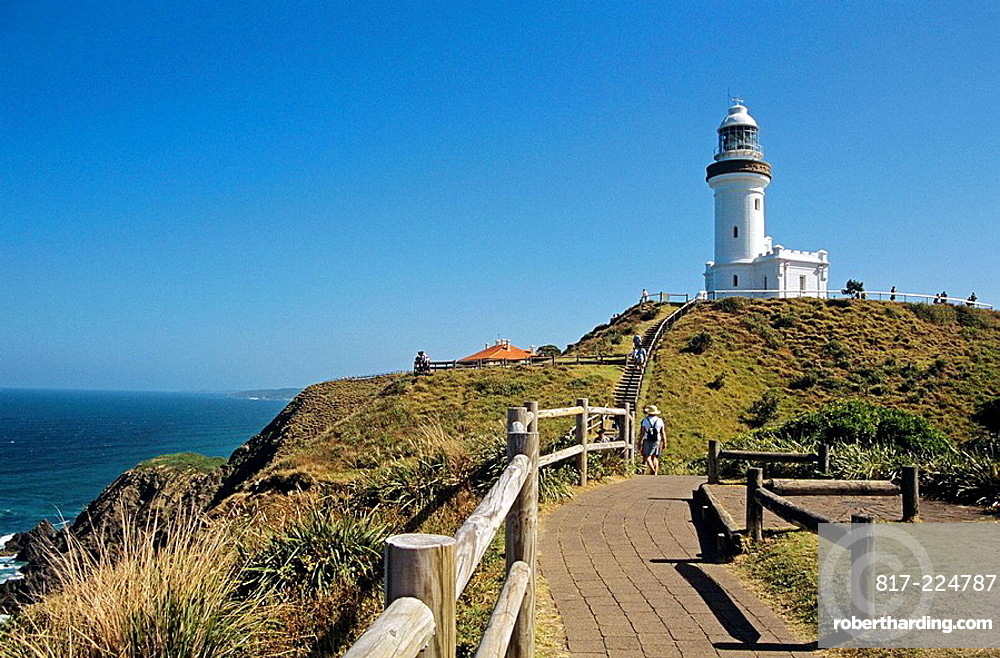 Cliff walk and lighthouse, Byron | Stock Photo